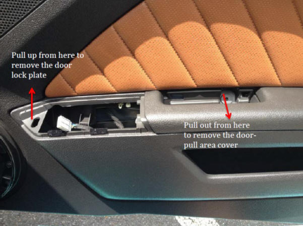Replace interior door handle (2010-2014 Mustang; all models)-Install-94491-94491-2