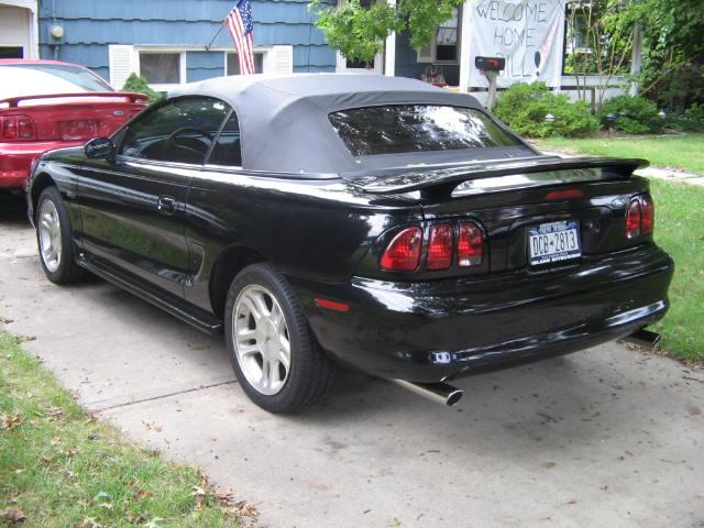 1998 mustang black convertible