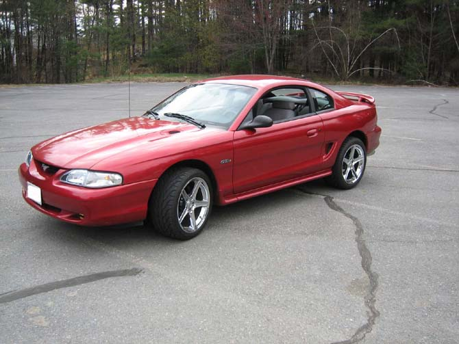 "1998 Mustang GT with 18"" Chrome Saleens"