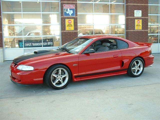 98 Red Mustang