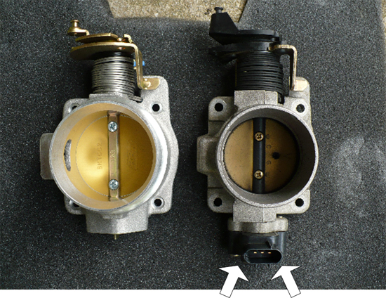 Remove sensor from old throttle body