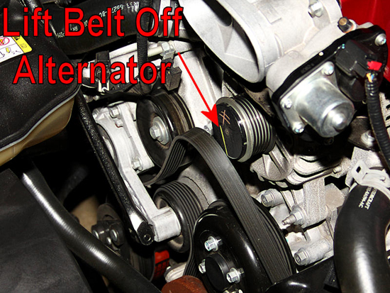 Lift Belt off Alternator