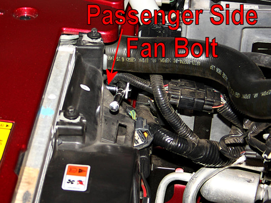 Remove Passenger Side Fan Housing Bolt