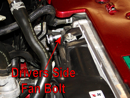 Remove Driver Side Fan Housing Bolt