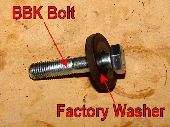 BBK-Supplied Bolt and Washer