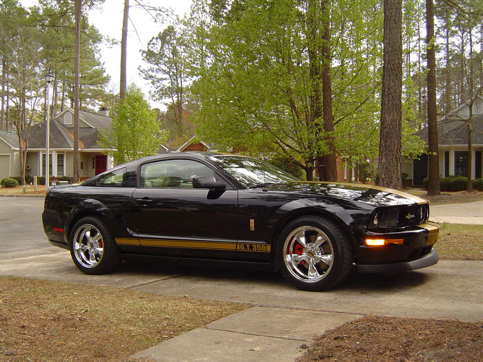 Gold Striped 2006 Mustang GT