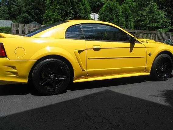 18 Inch Black Saleen Wheels on a 1999 Mustang