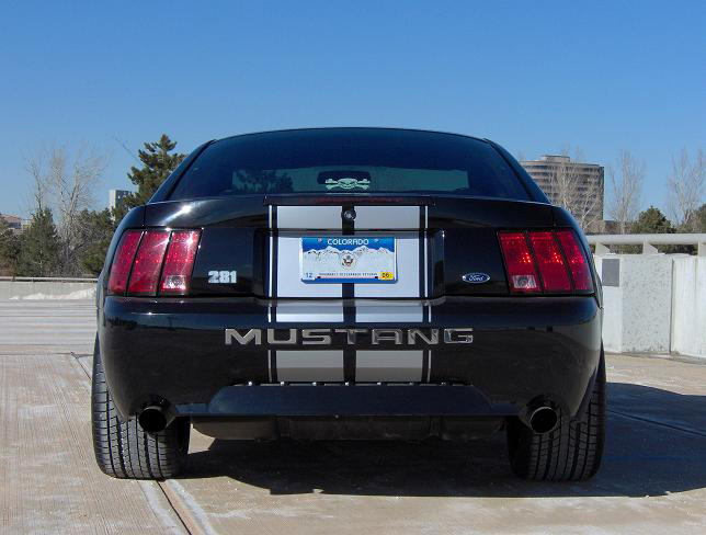 2004 Black Mustang GT Decklid