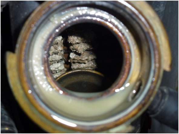 Calcium Buildup on a Fox Body Radiator