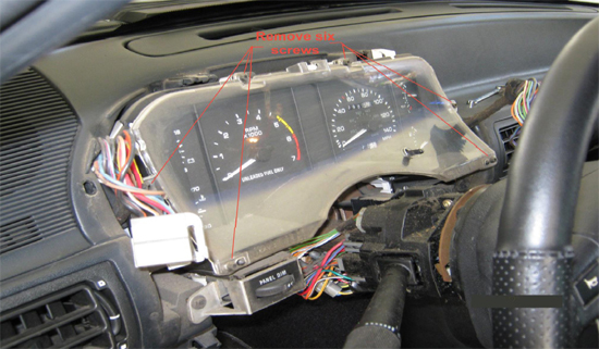 Clear Lens Instrument Panel 9093 12