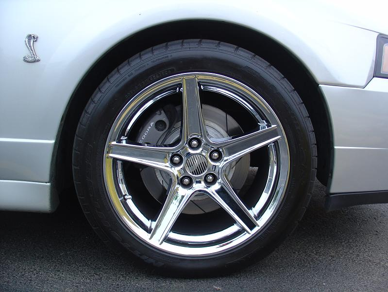 Silver 2003 Ford Mustang Cobra Saleen Wheels
