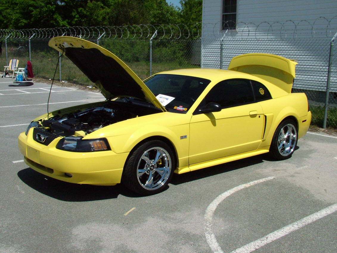 2002 Yellow Mustang GT Bullitt Wheels
