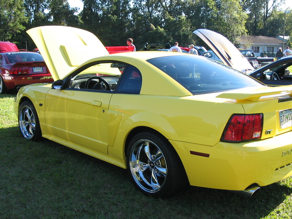 2002 Yellow Mustang GT