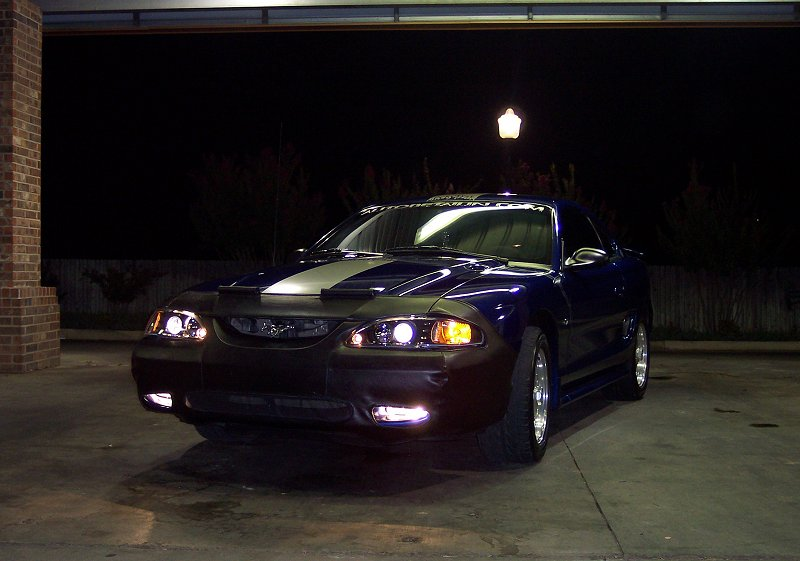 1997 Royal Blue Mustang GT Coupe