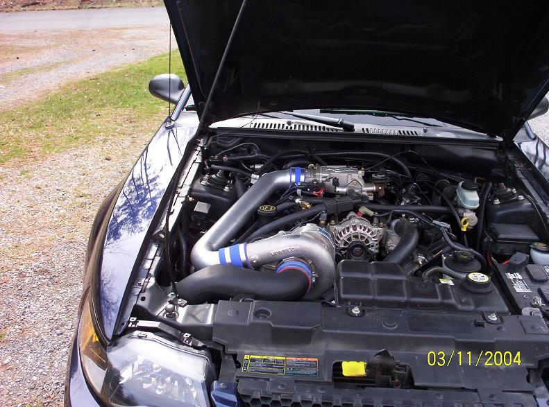 2002 Supercharged Mustang GT Engine
