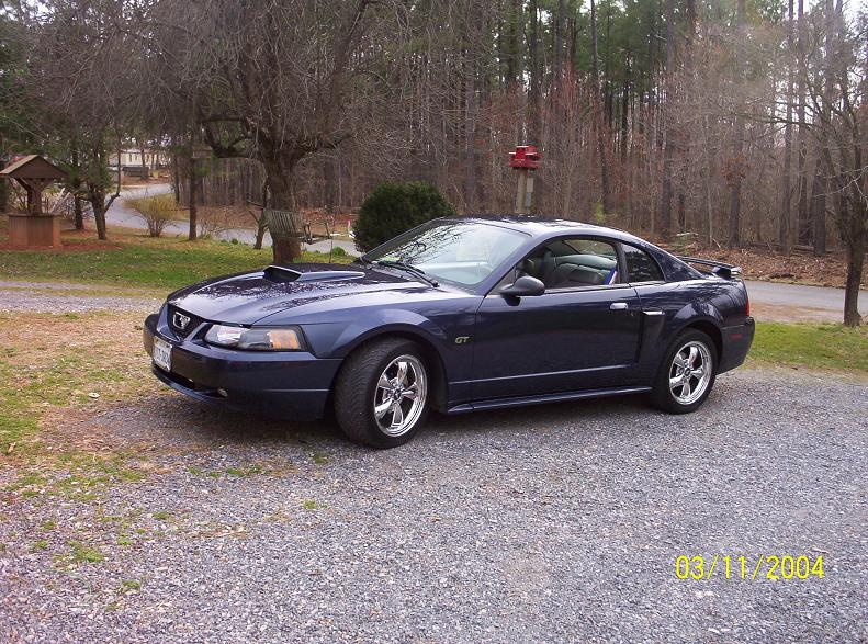 2002 True Blue Supercharged Mustang GT