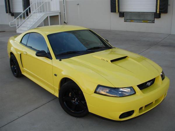 2001 Zinc Yellow Mustang GT