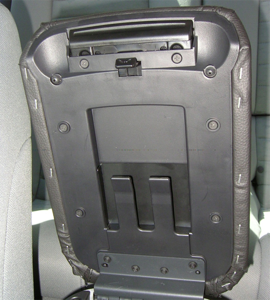 Secure Top and Bottom of Arm Rest Cover