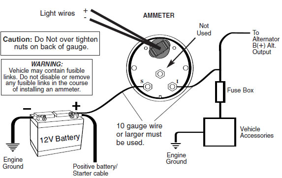 Autometer Volt Install on Harley Golf Cart Wiring Diagram