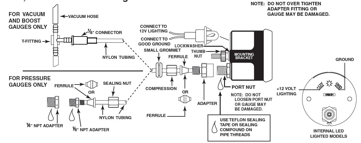autometer pyrometer wiring diagram autometer image how to install an auto meter pro comp ultra lite boost vac gauge on autometer pyrometer