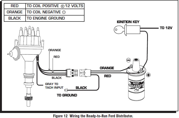 schema msd ford ready to run distributor wiring diagram