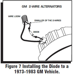 diode on alternator for turning off car 63 chevy nova forum 2 Wire Alternator Diagram this is my original wiring schematic for my car 2 wire alternator diagram