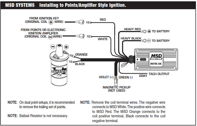 msd 6a wiring diagram msd image wiring diagram how to install an msd 6a digital ignition module on your 1979 1995 on msd 6a
