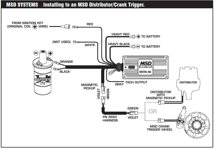 Msd 6a Digital Ignition 7995 Install on 90 nissan d21