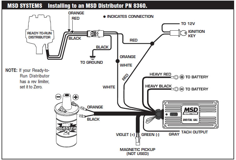 how to install an msd 6a digital ignition module on your 1979-1995,Wiring diagram,Wiring Diagram For Msd 6A