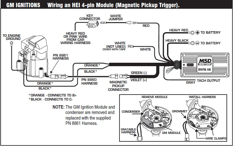 how to install an msd 6a digital ignition module on your ... msd 6al tach wiring diagram msd 6al hei wiring diagram gm