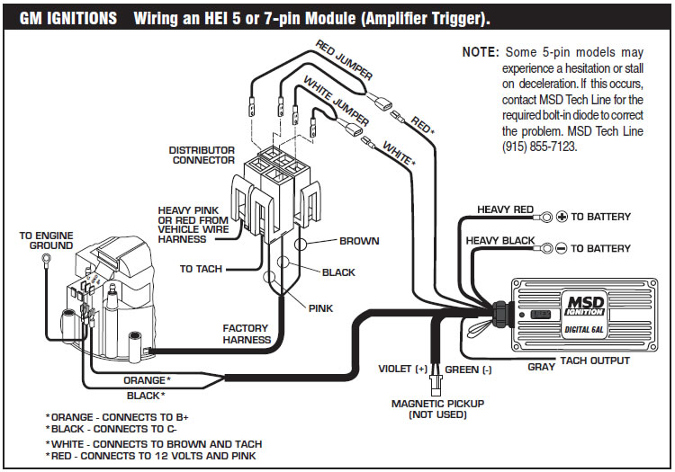 ford msd 6a wiring diagram how to install an msd 6a digital ignition module on your ...