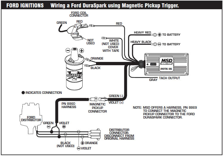 how to install an msd 6a digital ignition module on your 1979 1995 mustang americanmuscle Ford 302 Wiring- Diagram Ford Ignition Switch Wiring Diagram