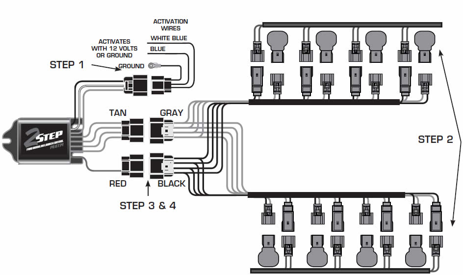 how to install a msd launch master 2 step rev limiter on a 2011 connect the 3 pin harness to the 2 step and connect the black wire to the good engine or chassis ground