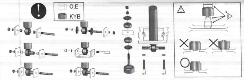 KYB Gas-a-Just Quad Shocks (94-04 GT, V6, Mach 1; 94-98 Cobra) - 02