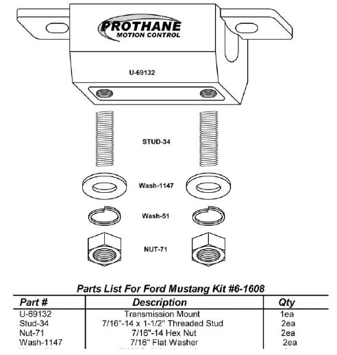 prothane-transmission-mount-79-98-v8