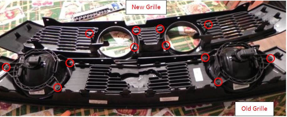 3DCARBON Eleanor Style Center Fog Light Grille - 06