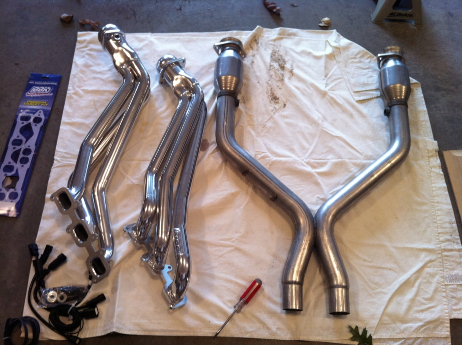 2011-2012 V6 Mustang BBK Long Tube Headers and Shorty X-Pipe - 01