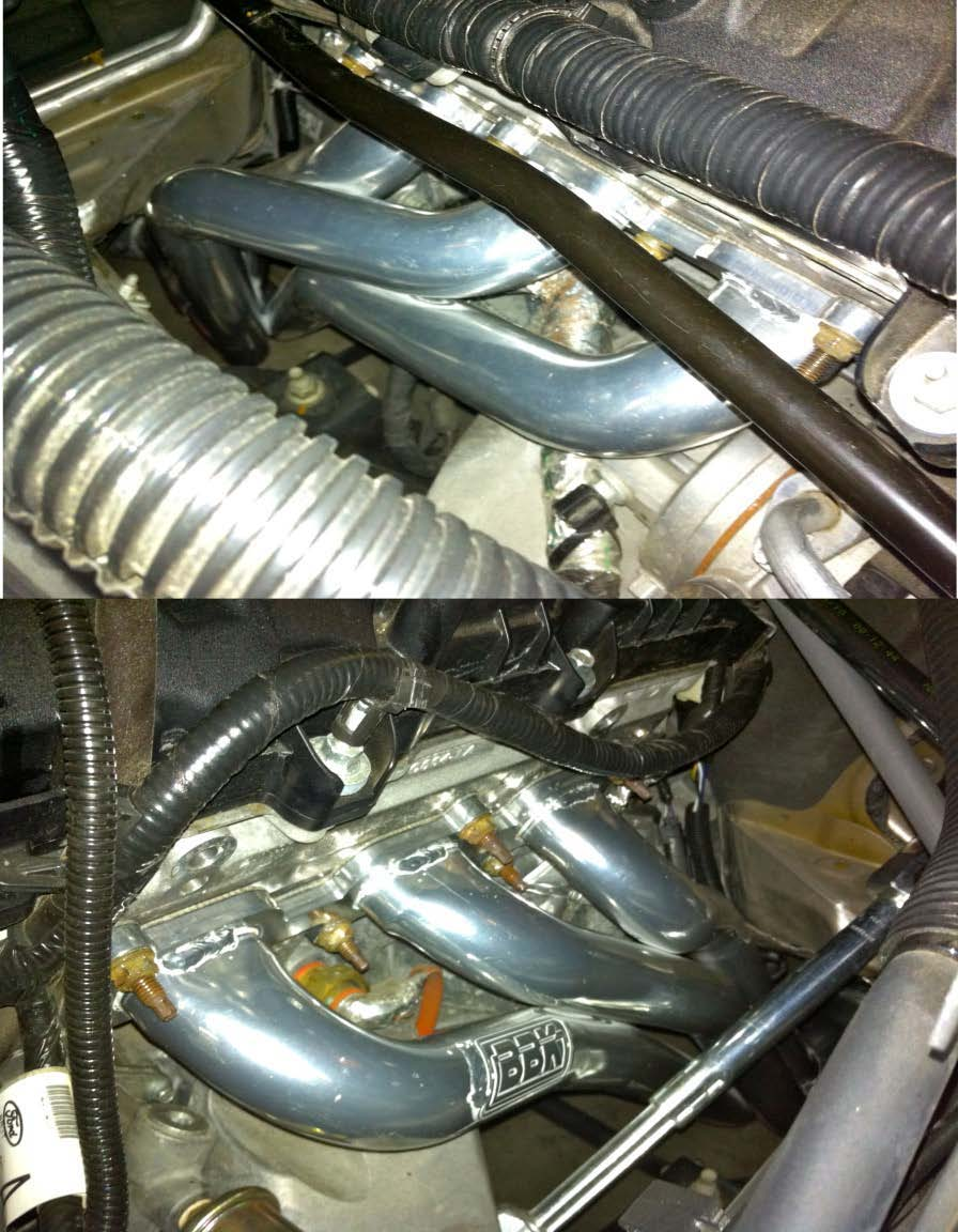 2011-2012 V6 Mustang BBK Long Tube Headers and Shorty X-Pipe - 10