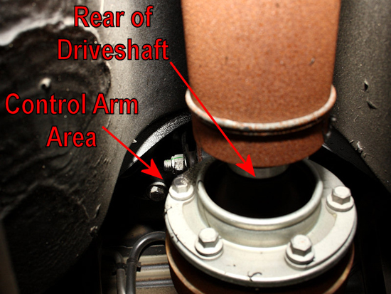 Locate Upper Control Arm
