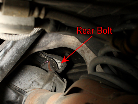 Remove Rear Control Arm Bolt