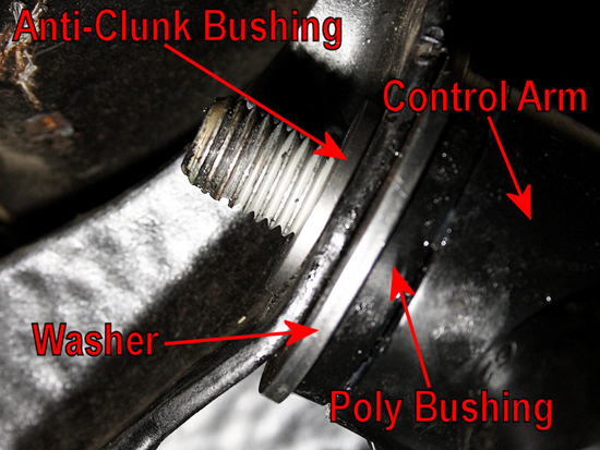 Washer and Anti-Clunk Bushing Assembly