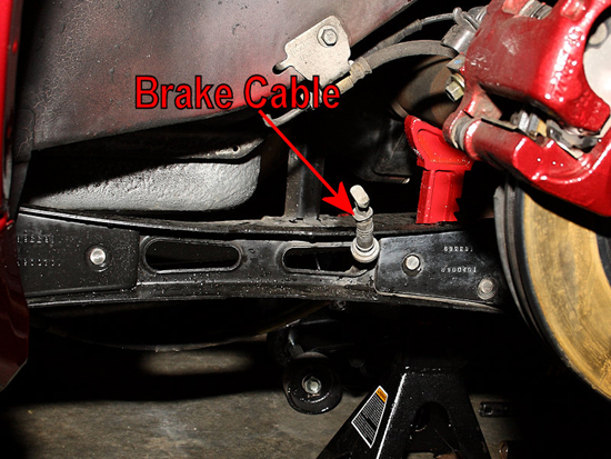 Remove Parking Brake Cable