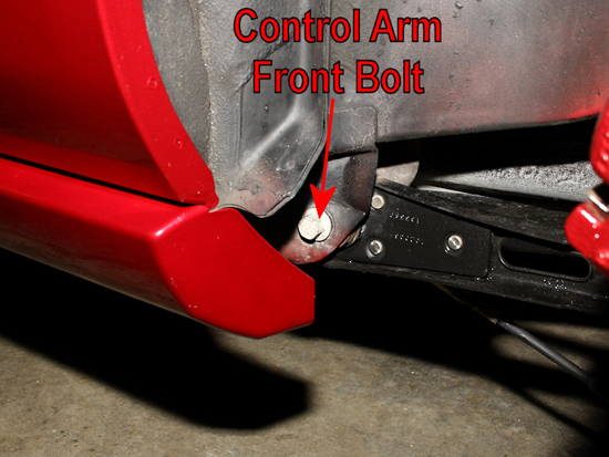 Remove Front Control Arm Bolt