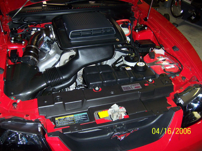 Torch Red Mach 1 Engine Bay