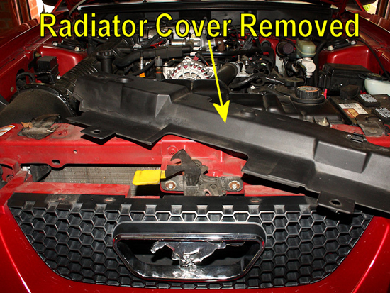 Remove Radiator Cover