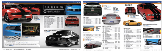 Pages from the catalog