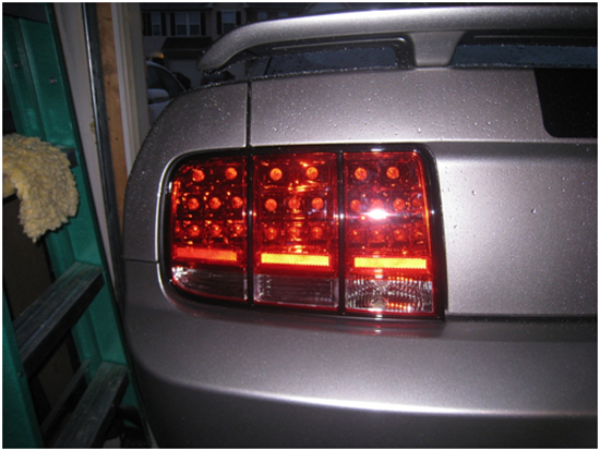 After Left Tail Lights
