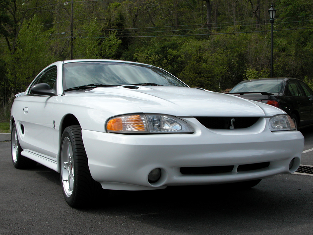 1996 Crystal White SVT Cobra