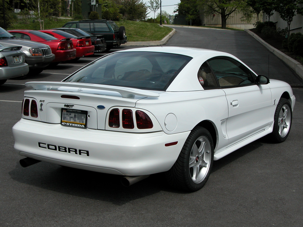 96 White SVT Silver CobraR