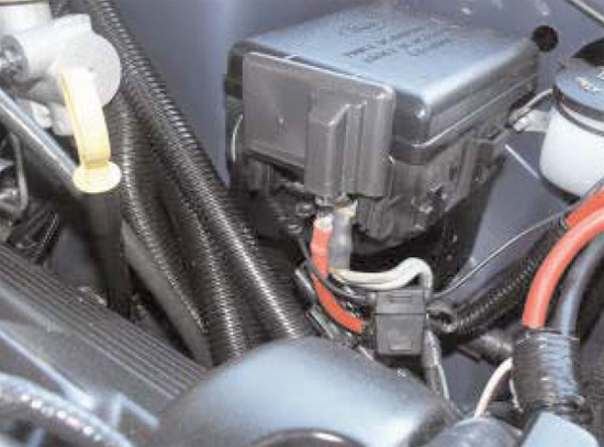 Route Solenoid Power Wire to Power Stud